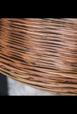 PTMD PTMD Riet bruin hanglamp gold S