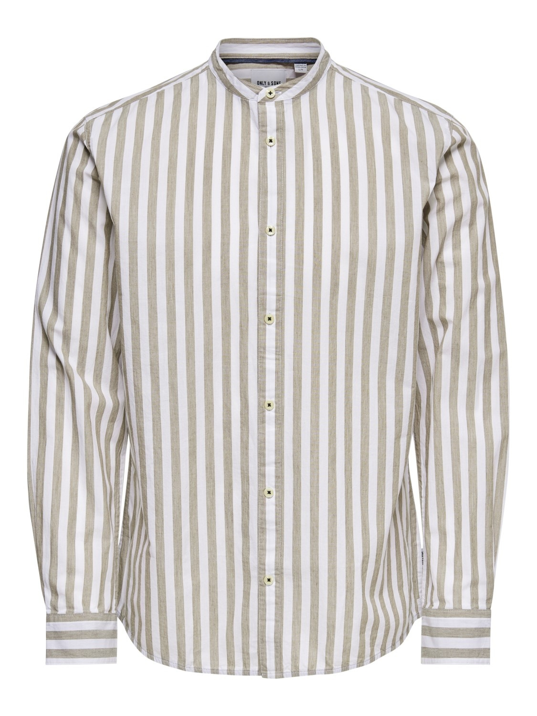 Only & Sons Onsmatthew Stripe Mandarine Shirt
