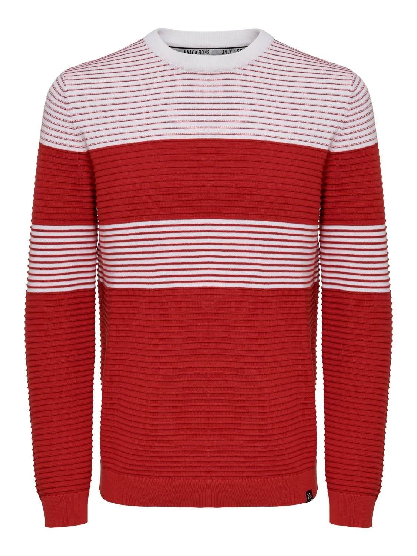 Only & Sons Onsnykko Striped Struc Knit