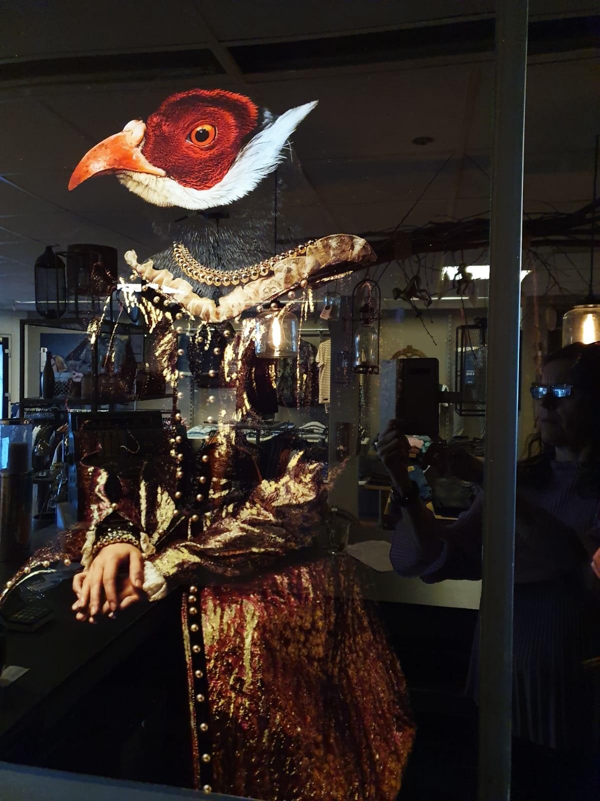 Glasschilderij Vogel 60x90cm