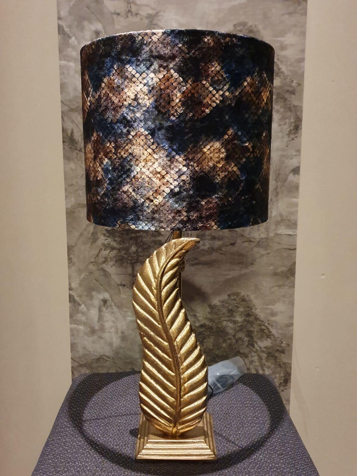 Lampvoet Brons Veer