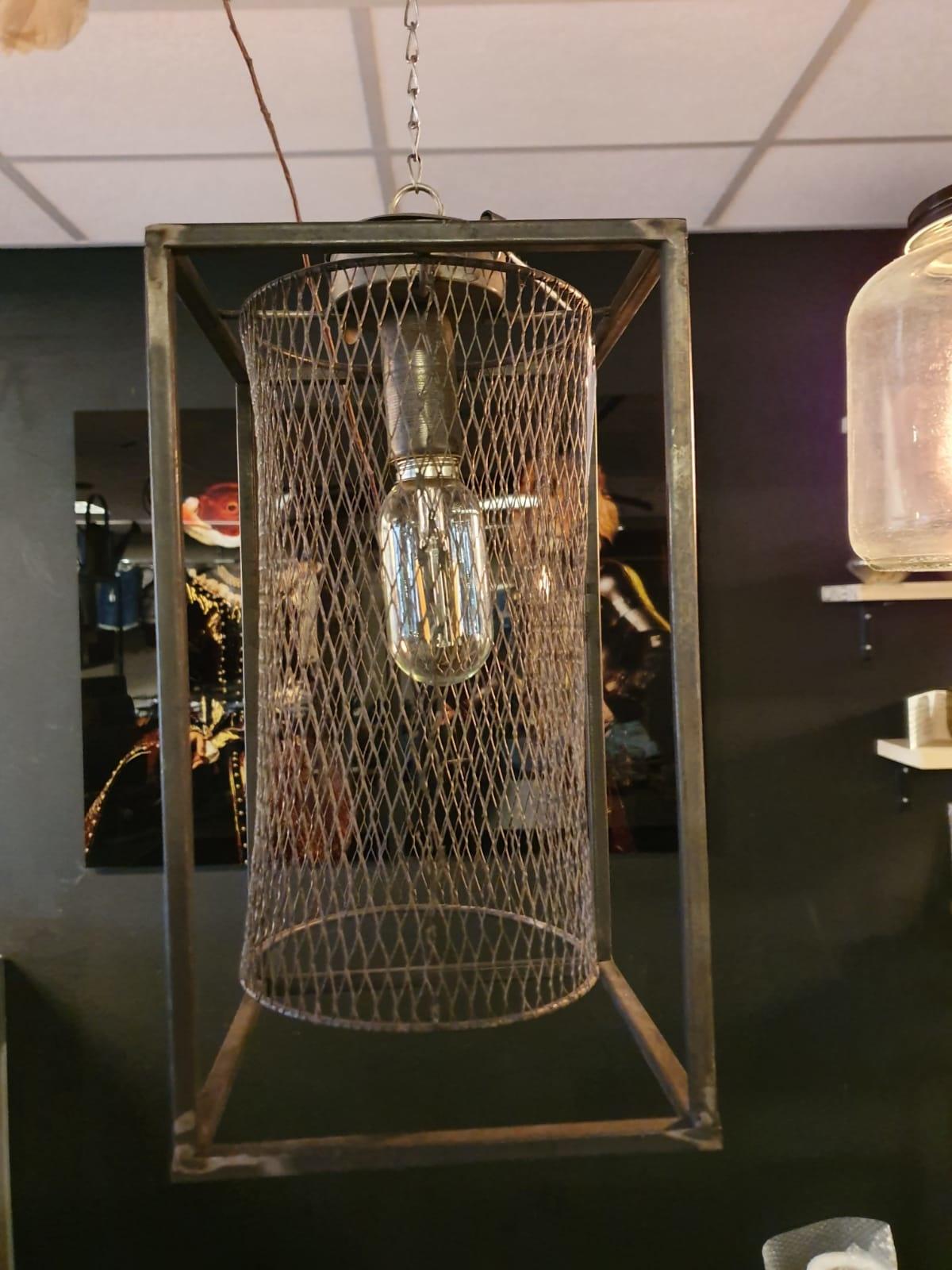 Hanglamp Metaal Gaas Grijs