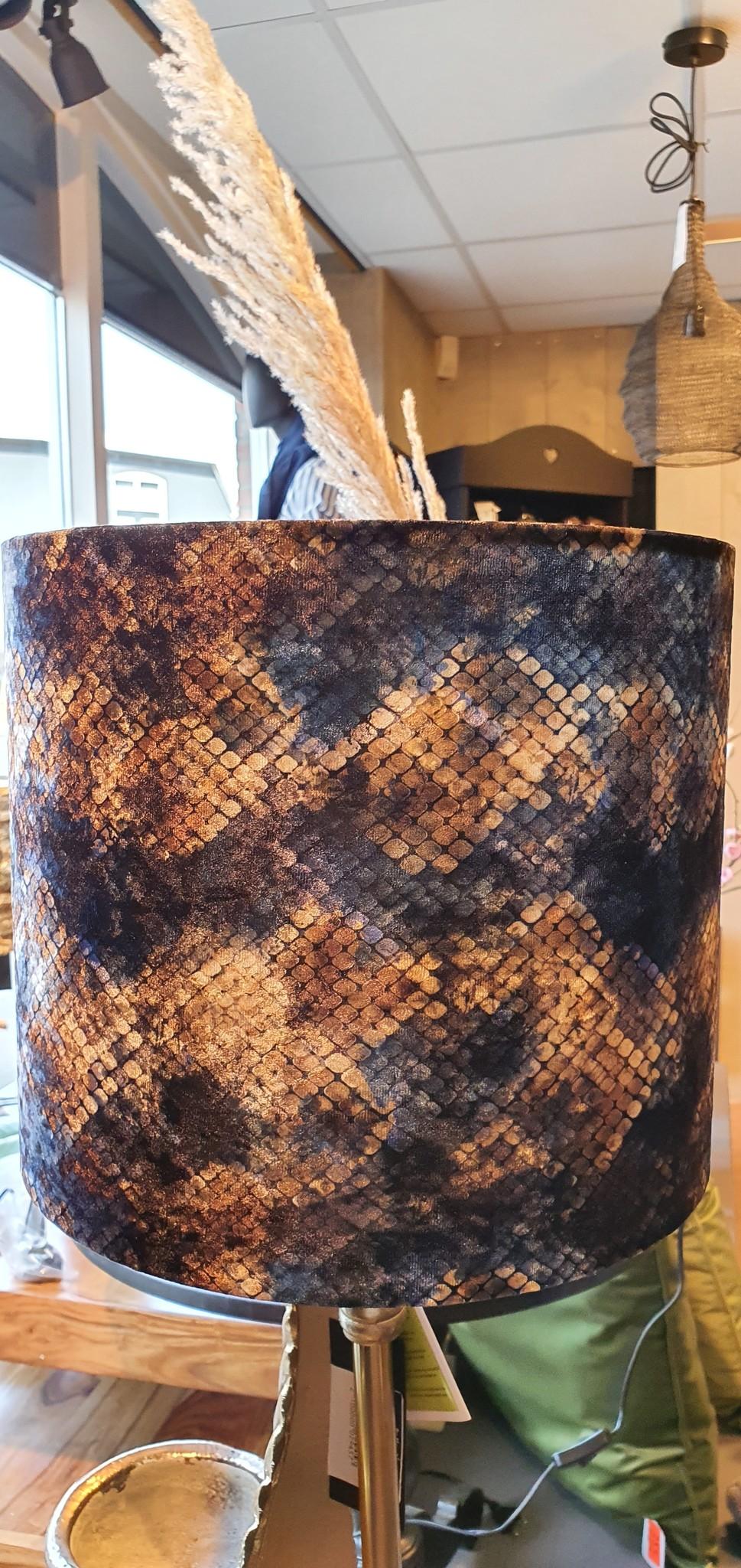 Kap Snake Blue on White 30x30x26cm