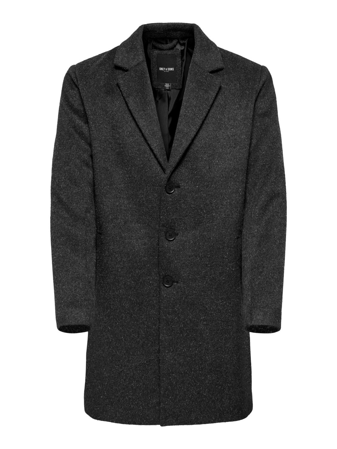 Only & Sons Onsiker Melange Wool Coat Noos
