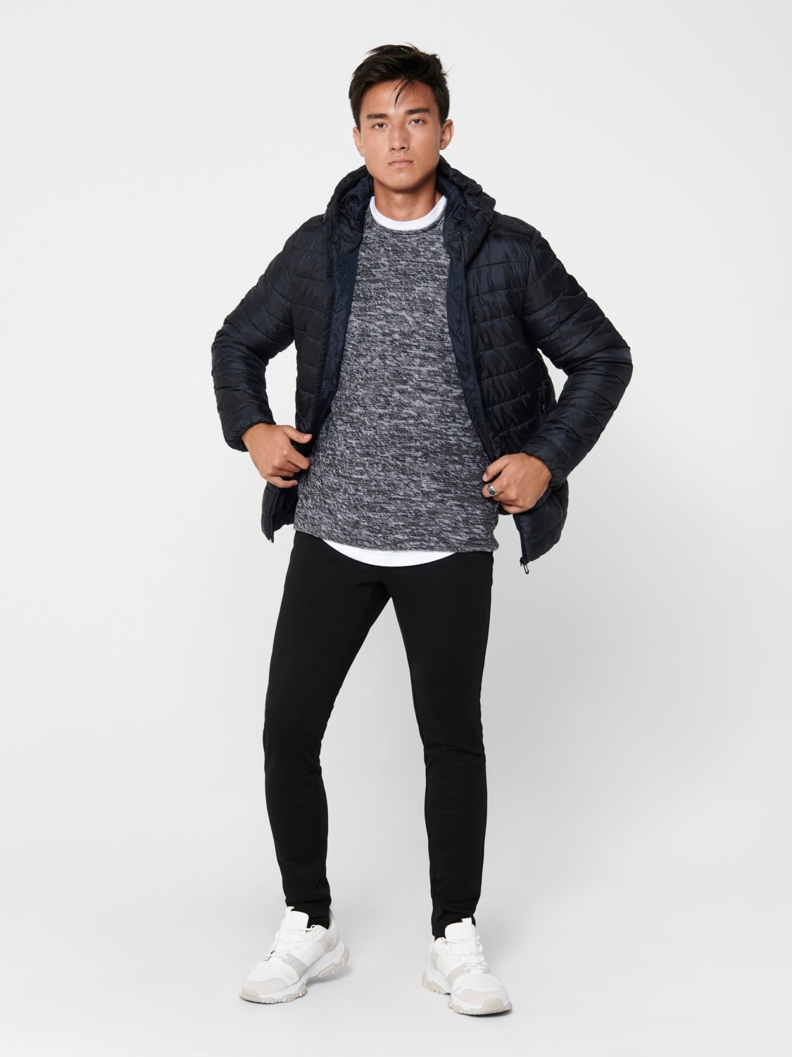 Only & Sons Onssteven Quilted Hood Jacket Noos