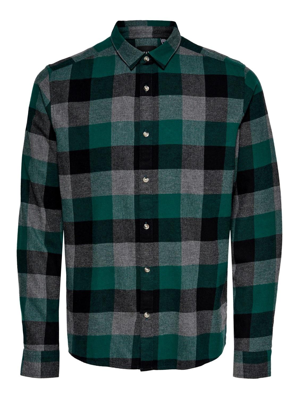Only & Sons Onsgudmund Melange Check Shirt Noos
