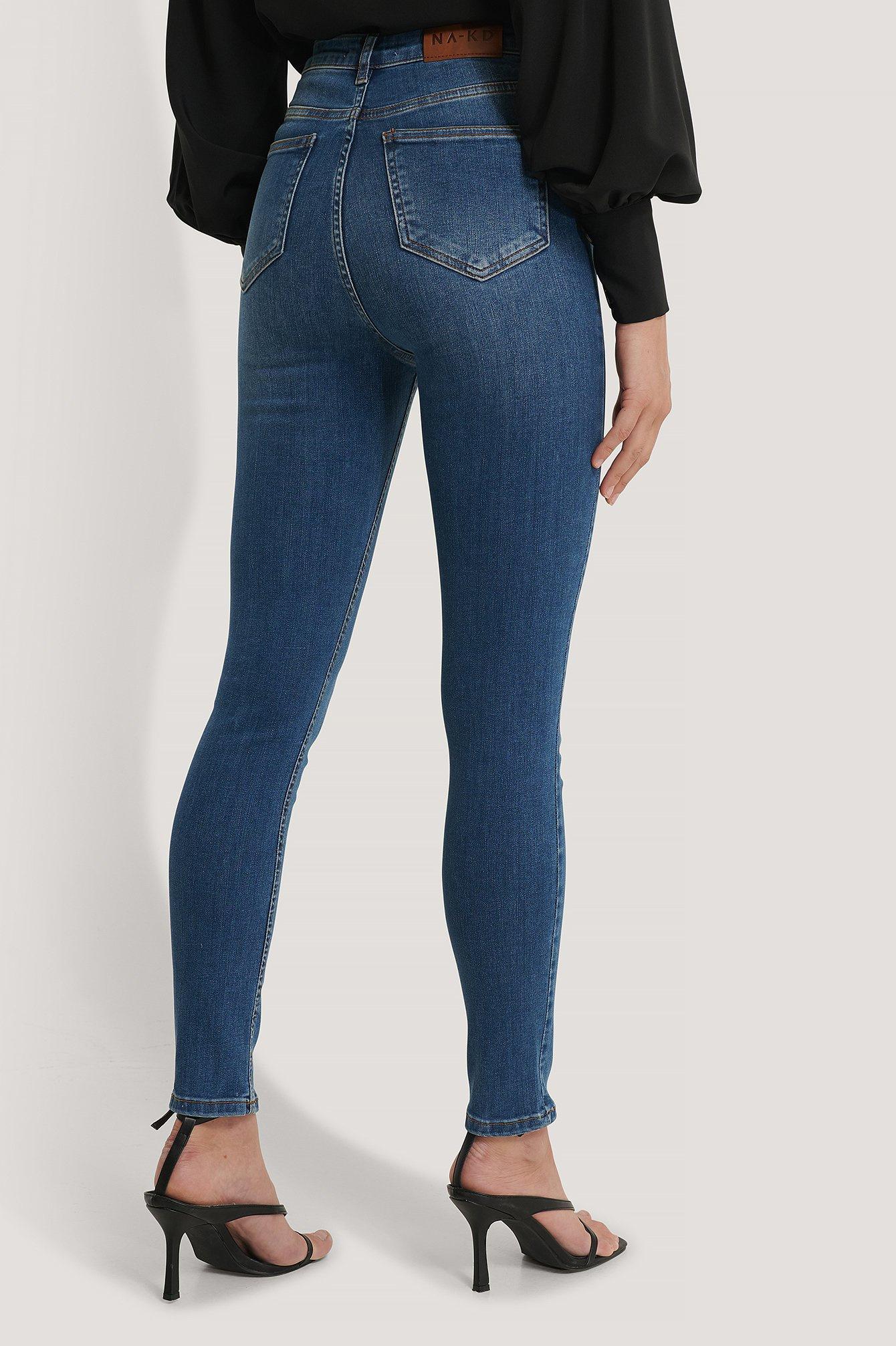 NA-KD NA-KD Skinny High Waist Jeans