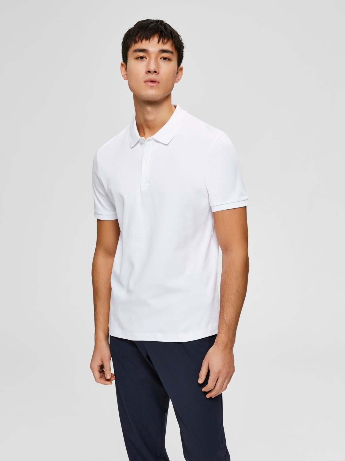 Selected SLHParis Polo Wit
