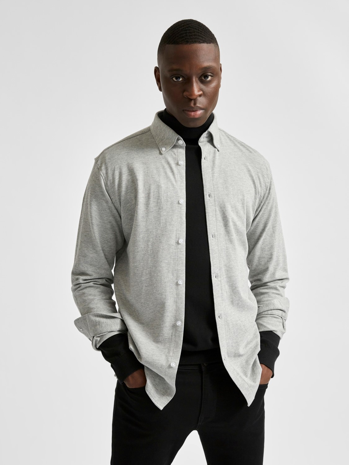 Selected SLHslimoliver Shirt Knit Noos