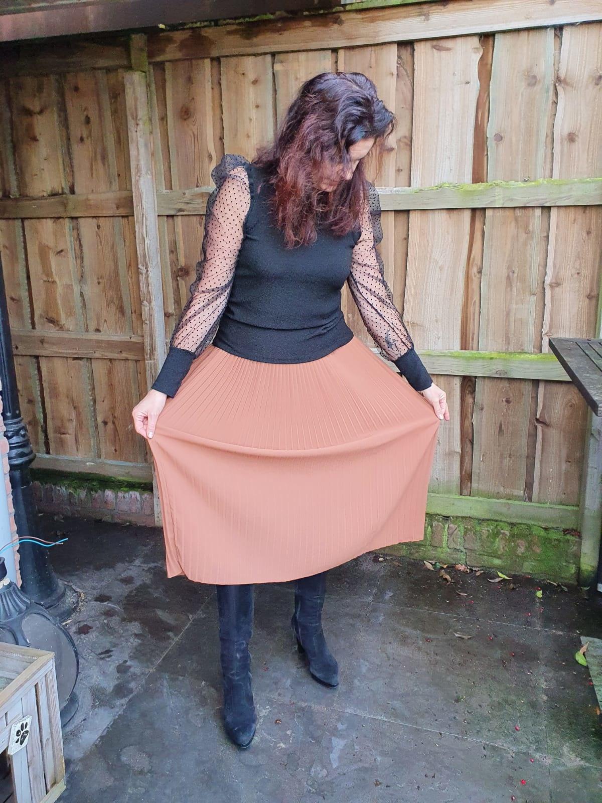 Rok plisse Uni Brique One Size