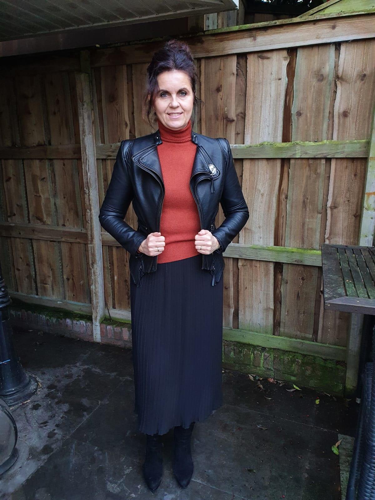 Rok plisse Uni Zwart One Size
