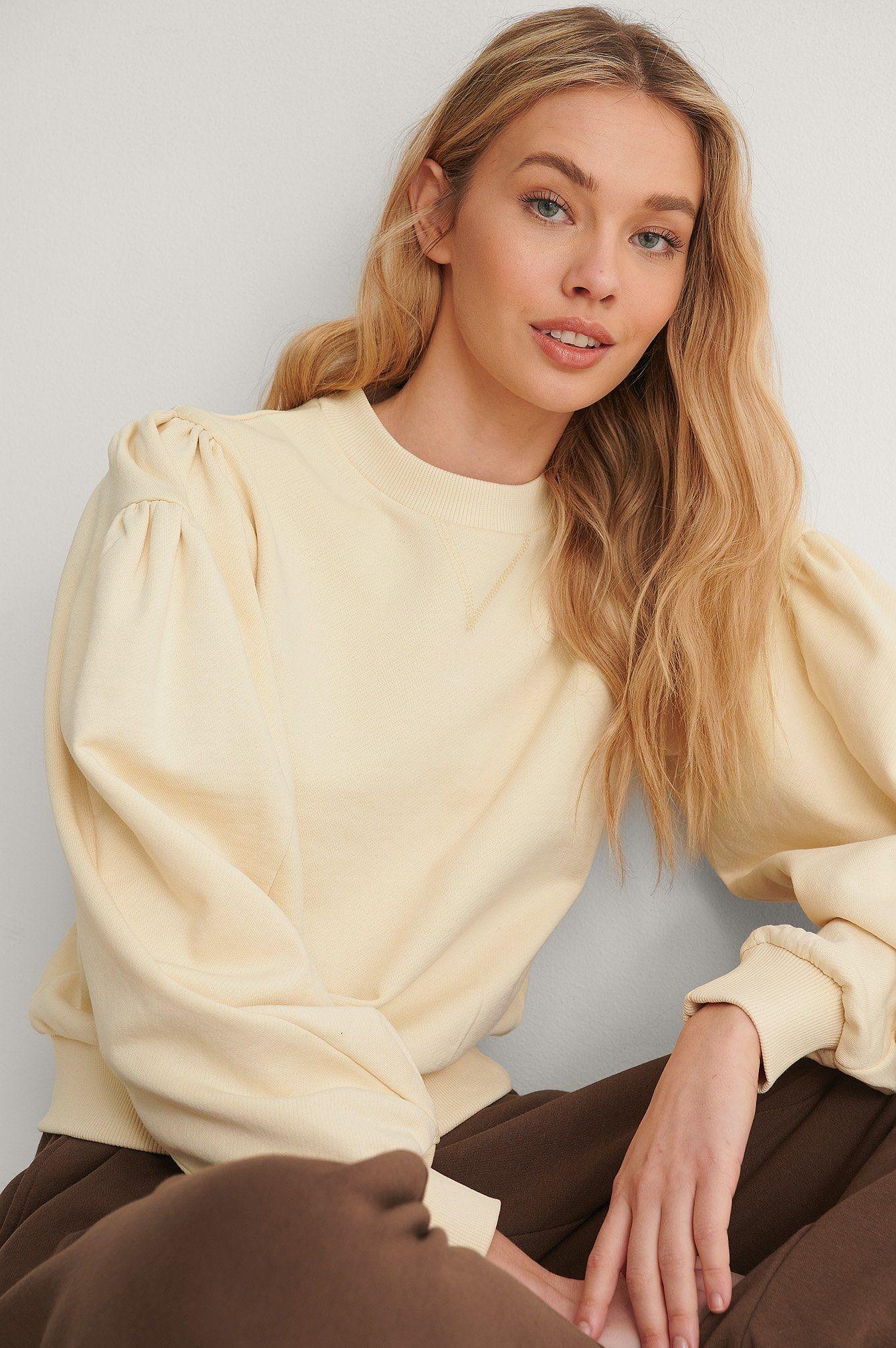 NA-KD Puff Sleeve Sweatshirt