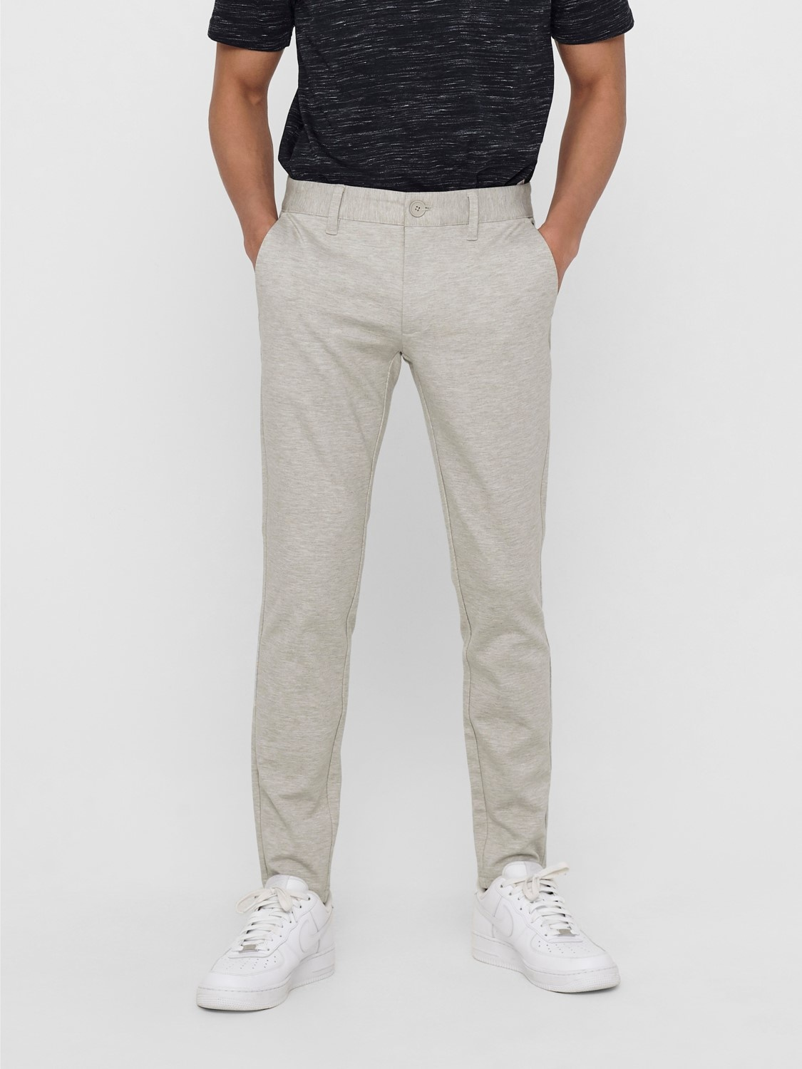 Only & Sons Onsmark Tap Pant 5833 Chinchilla Noos