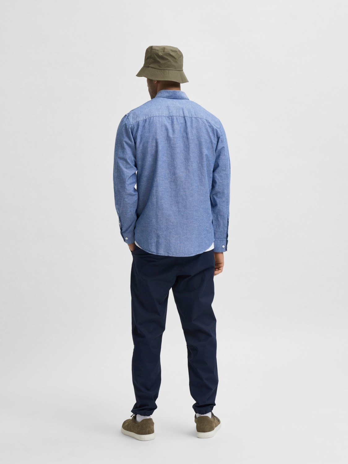 Selected SLHSlimnew Linen Shirt Noos