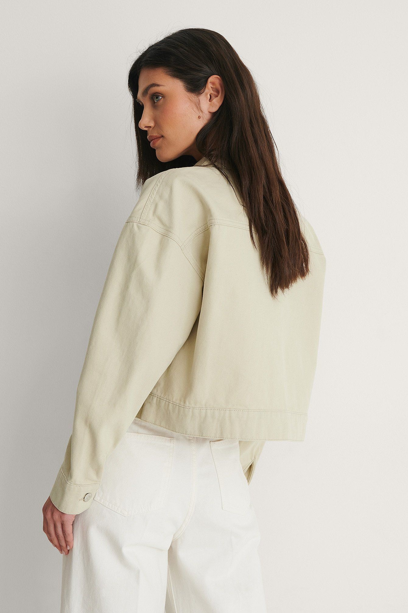 NA-KD Cropped Denim Jacket