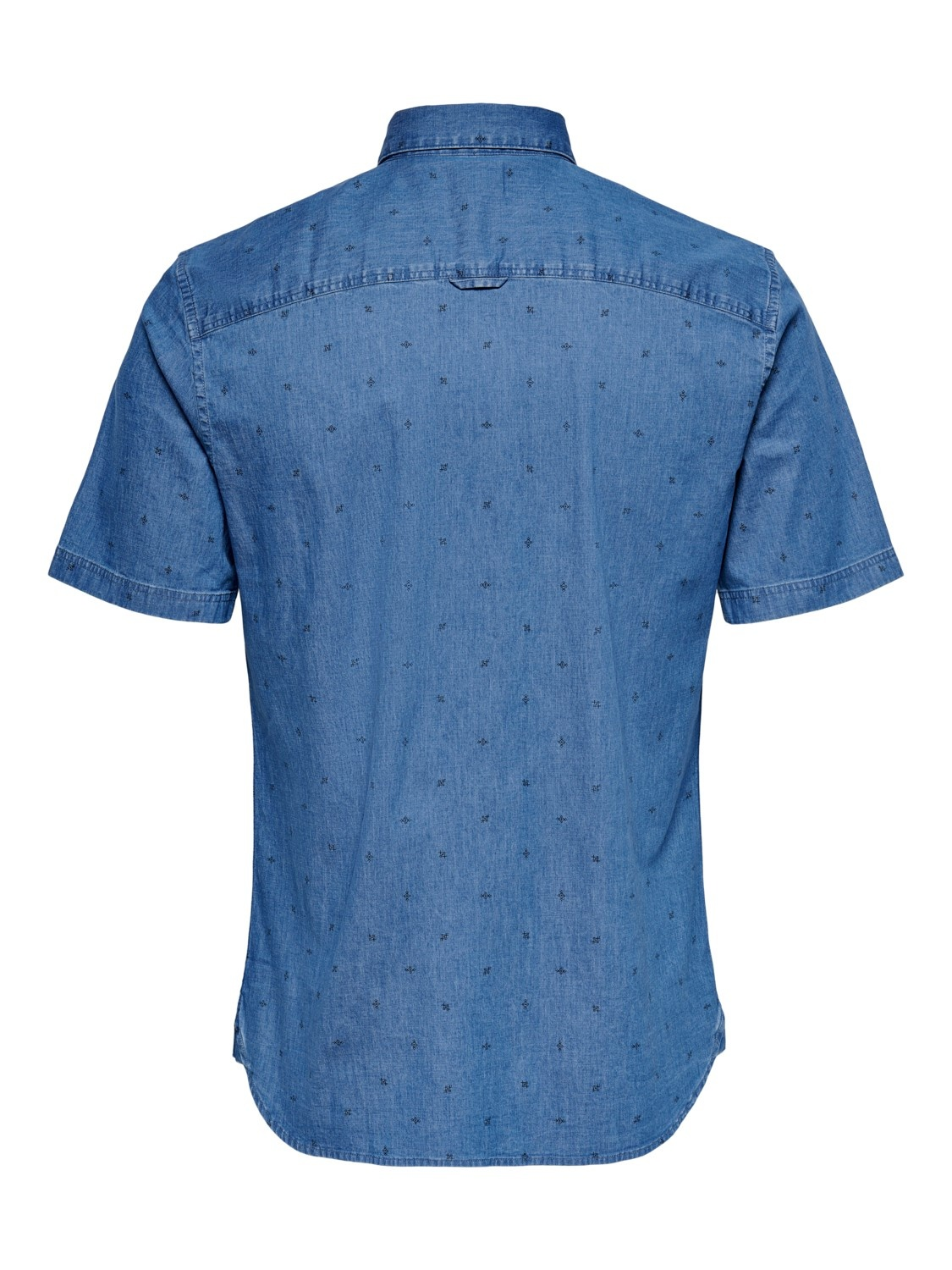 Only & Sons Onstroy Life Ditsy Chambray Shirt