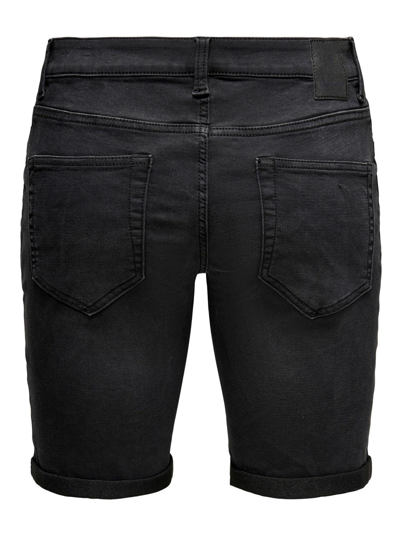 Only & Sons Onsply Short Black Denim Jog 8581 Noos