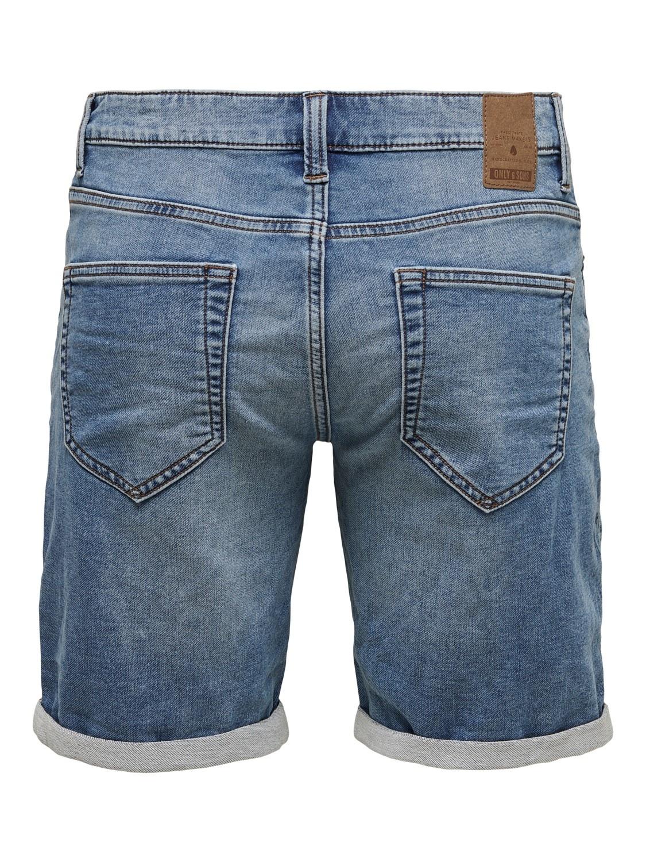 Only & Sons Onsply Short Blue Denim Jog 8584 Noos