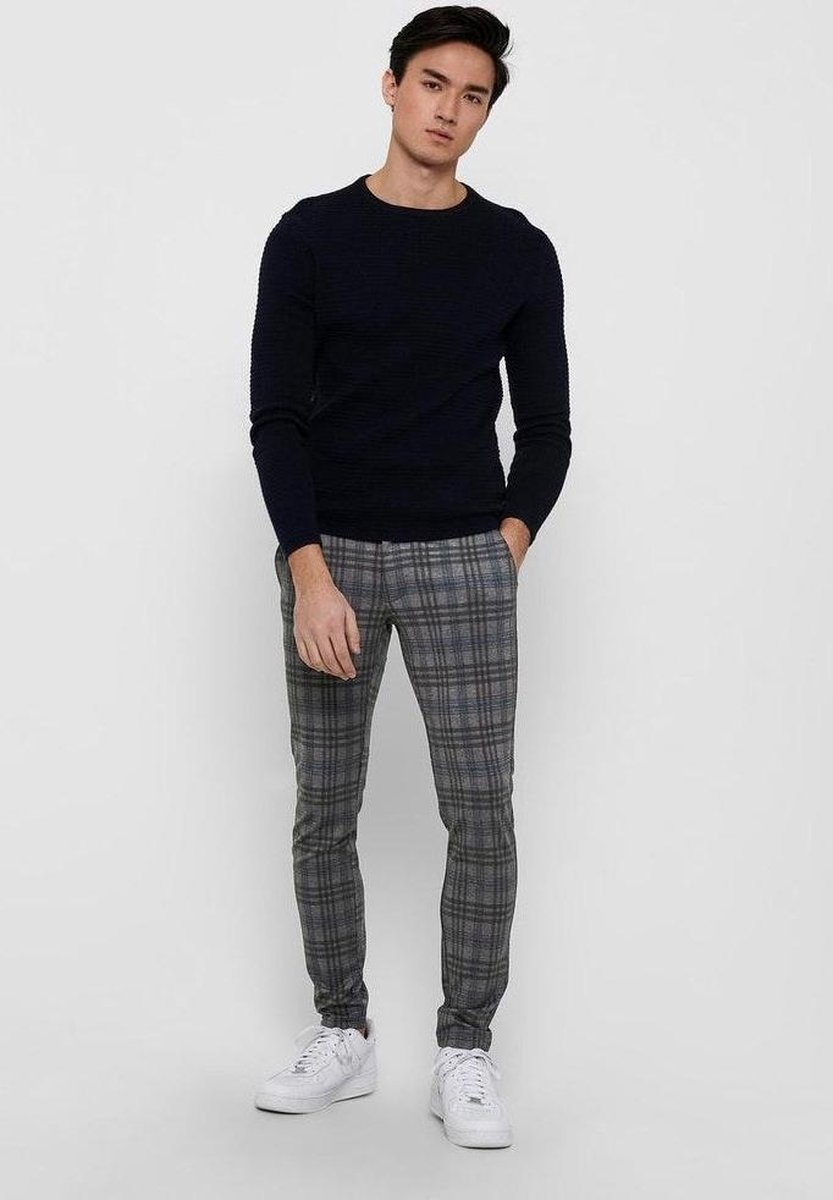 Only & Sons Onsmark Tap Pant Check 9916