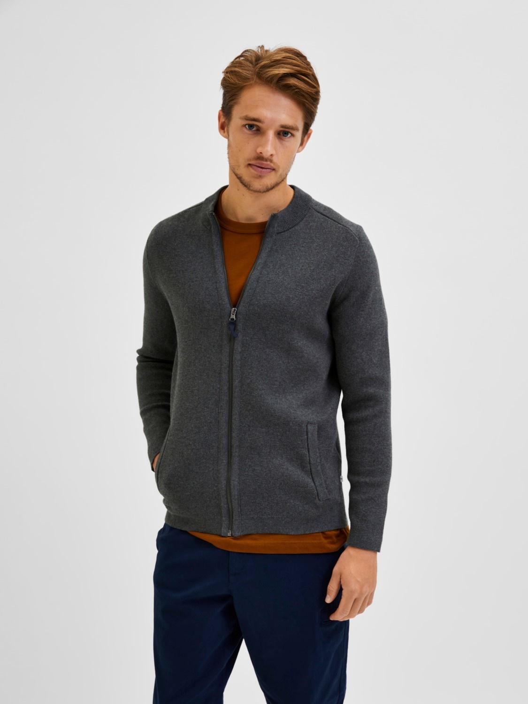 Selected SLHDaniel Zip Knit Cardigan