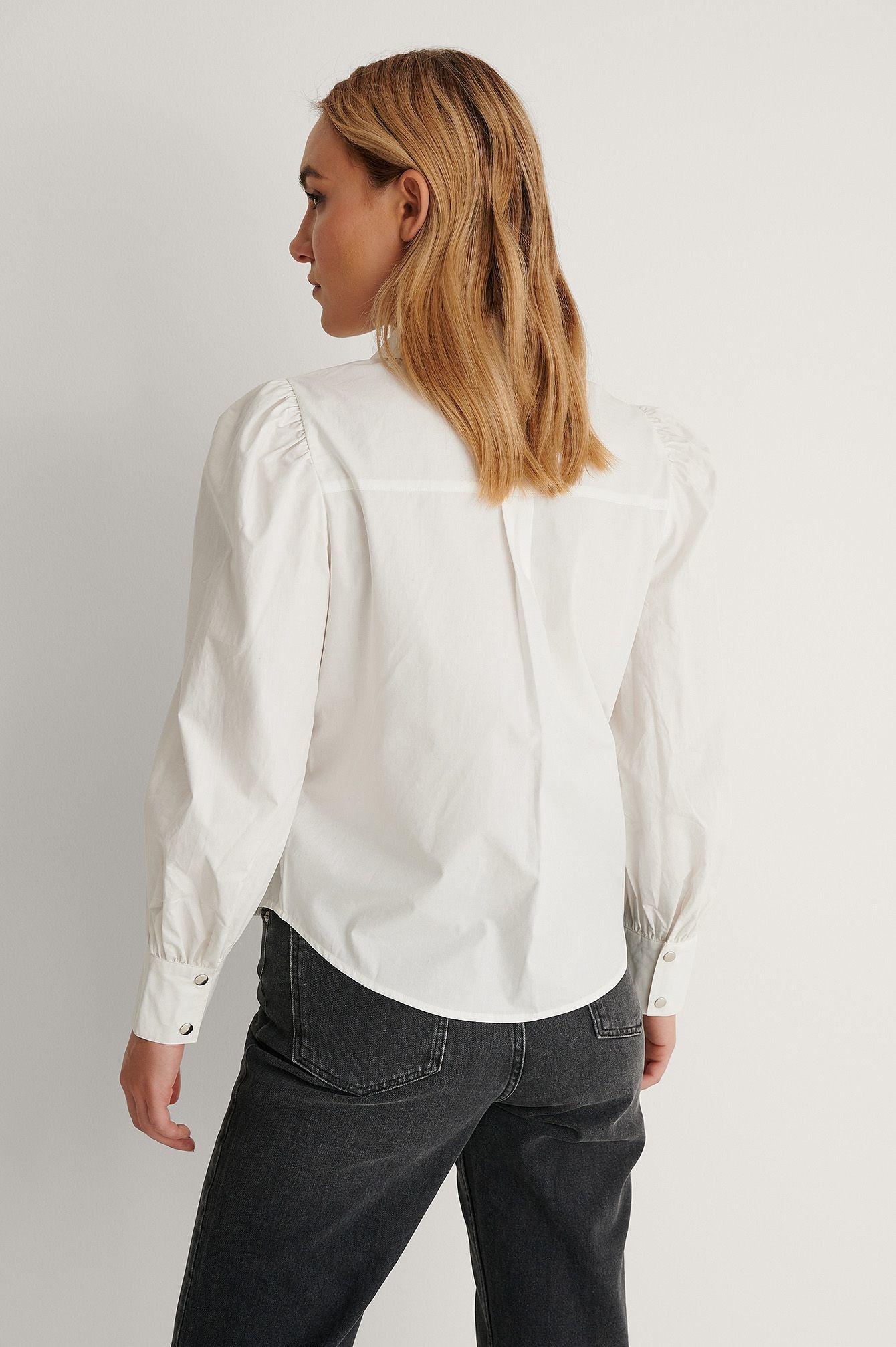 NA-KD Puff Sleeve Shirt