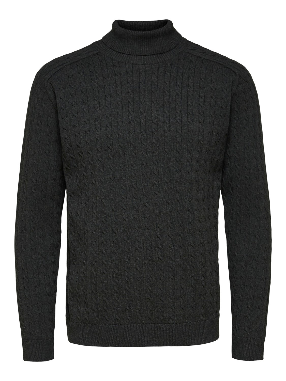 Selected SLHaiko Knit Cable Rollneck
