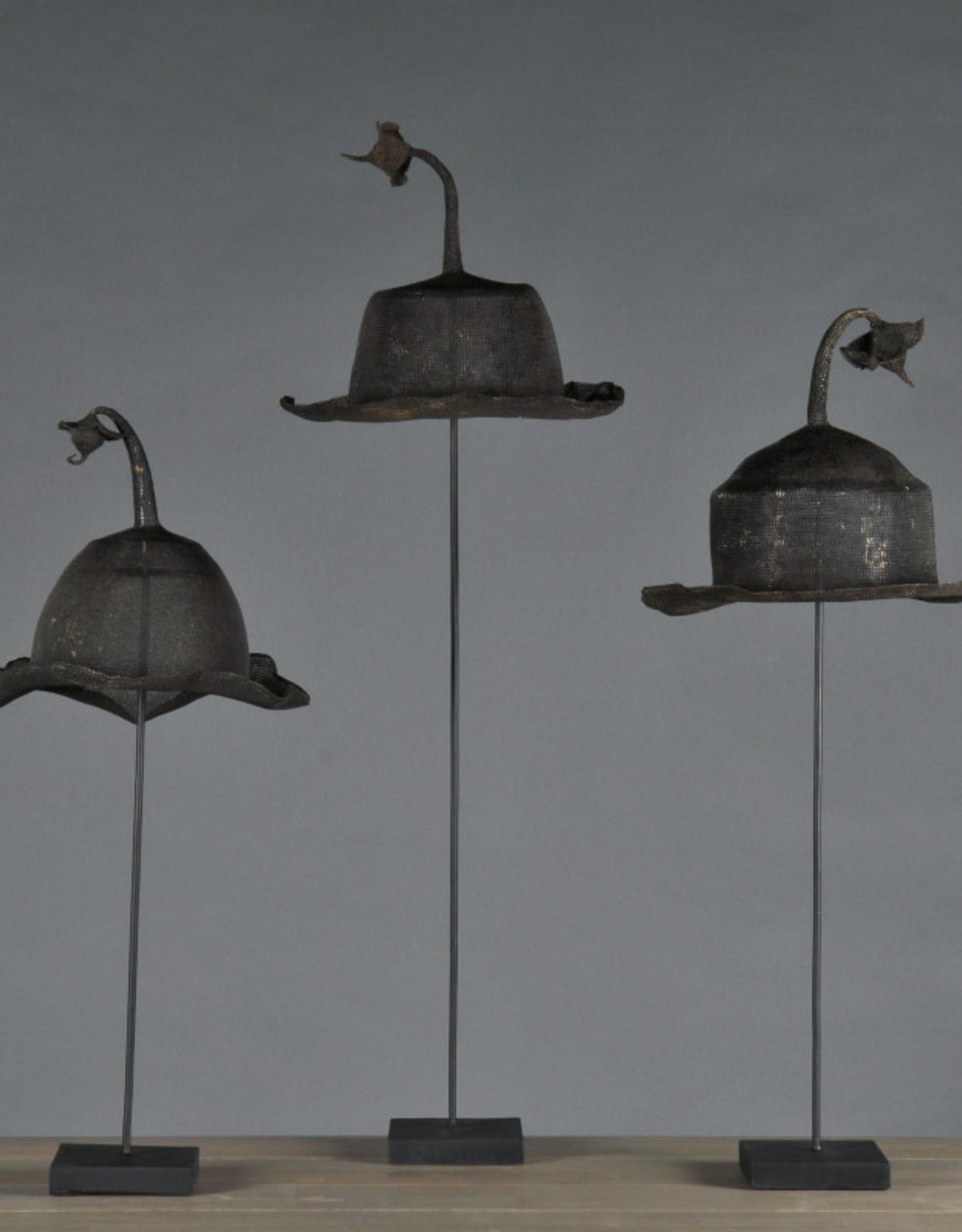 C&S DAVOY DECORATIVE ART S/2 IRON HAT