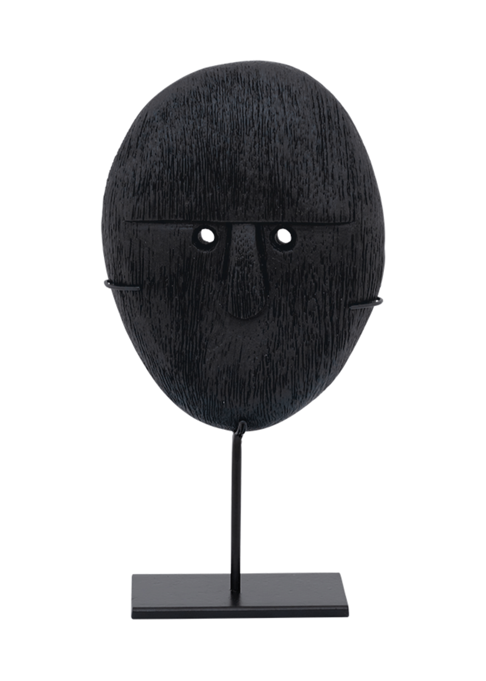 URBAN NATURE CULTURE URBAN NATURE CULTURE OBJECT MANGO WOOD HEAD ON STAND, 21CM