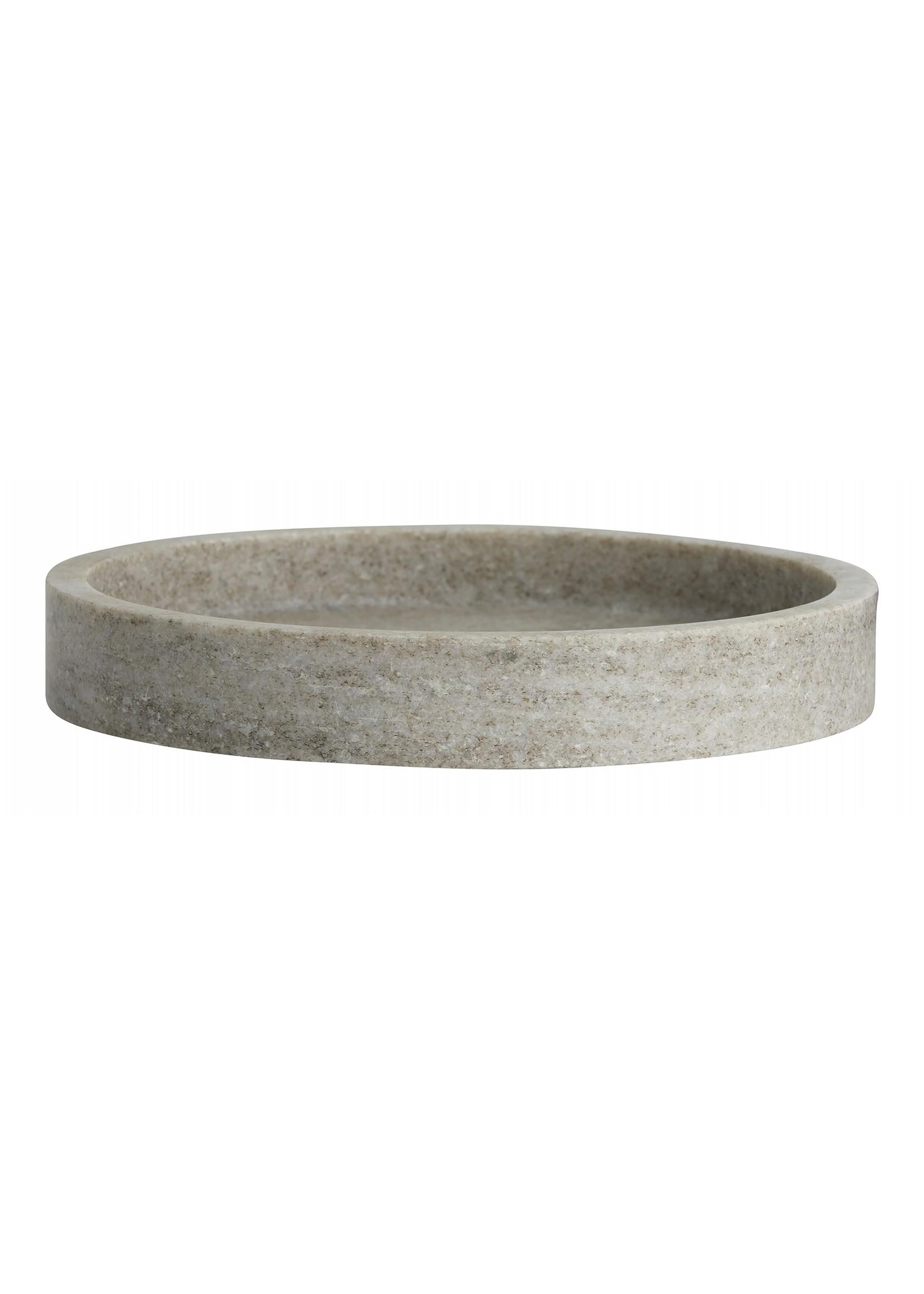 Nordal Nordal Vinga schaal bruine marmer S/2