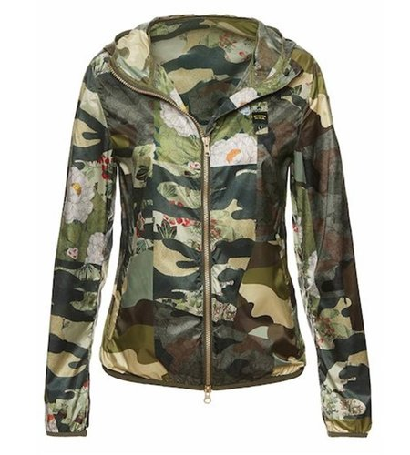 Blauer Leah Camouflage Hooded Windbreaker Alpine Green