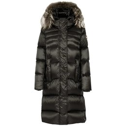 Colmar Glossy Maxi Down Jacket With Fur