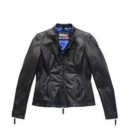 Blauer Padded Leather Jacket Ava
