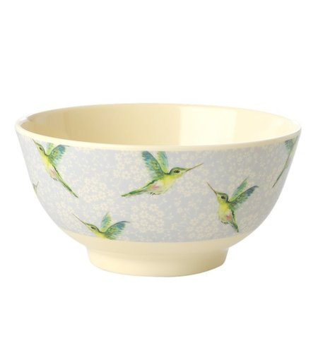 RICE Medium Melamine Bowl - Hummingbird Print