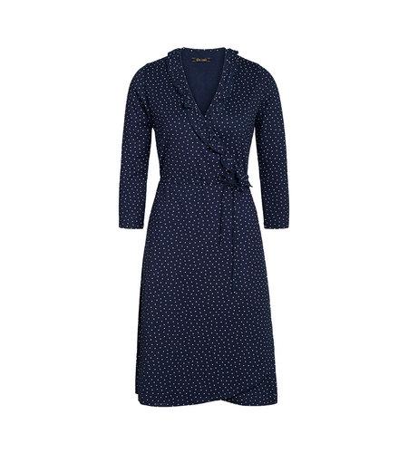King Louie Abby Wrap Dress Little Dots Nuit Blue