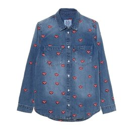 Zoe Karssen You'll Do All Over Denim Shirt