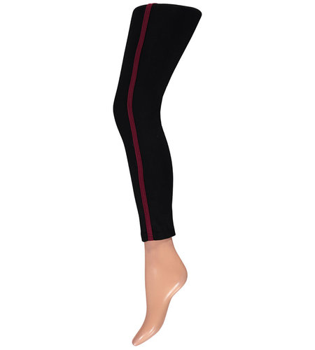 Sarlini Jersey Legging Met Fancy Tape Bordeaux