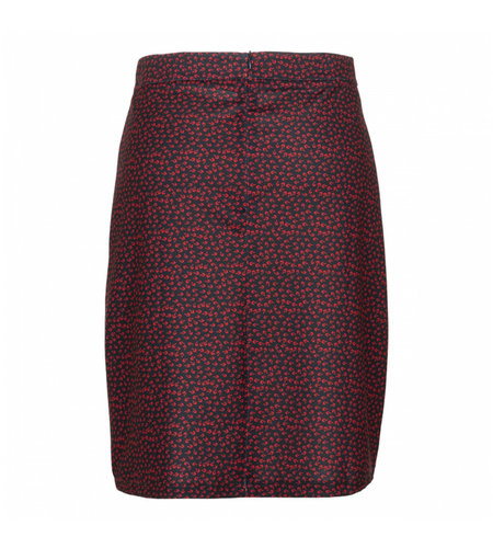 Le Pep Skirt Floral Graphic Navy
