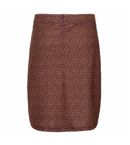 Le Pep Skirt Floral Graphic Wine