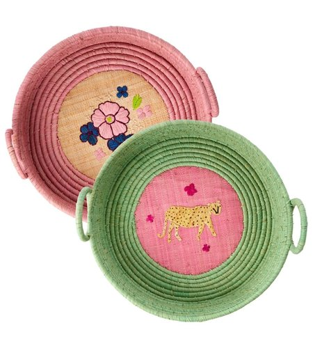 RICE Raffia Bread Basket - Simply Yes 1