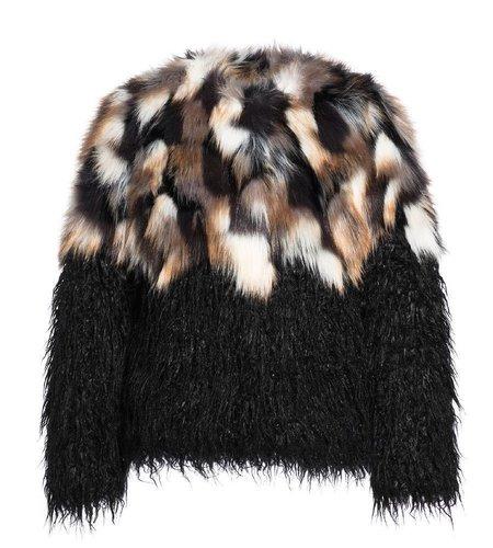 Goldbergh Animale Jacket Fake Fur Black