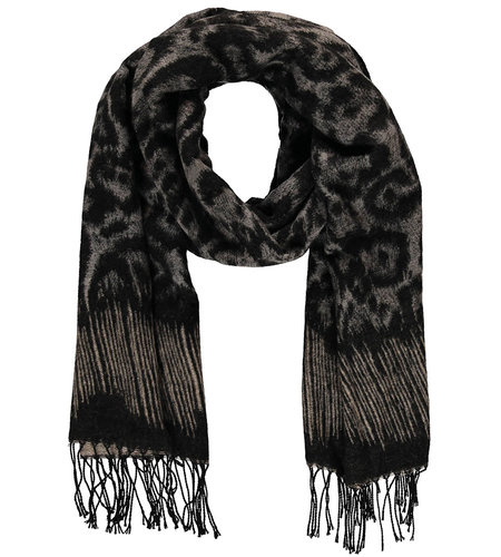 Sarlini Ladies Woven Scarf Grey