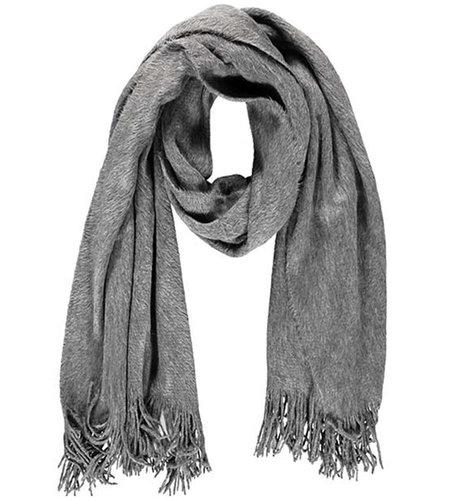 Sarlini Ladies Knit Scarf Medium Grey Melange