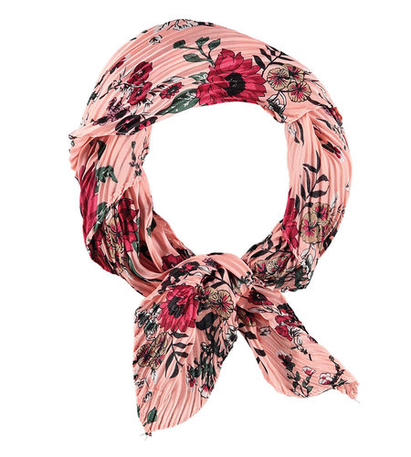 Sarlini Printed Scarf Square Pink