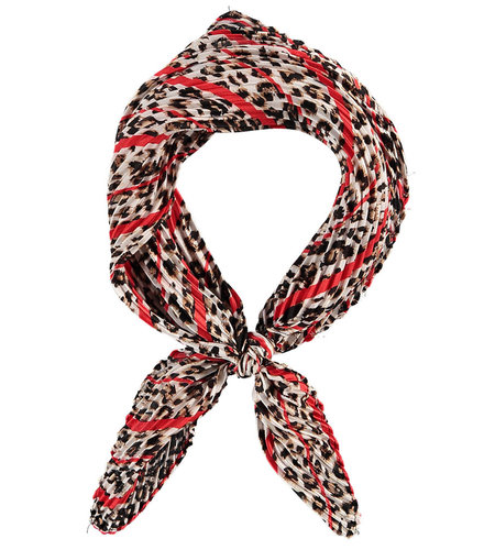 Sarlini Printed Scarf Square Red