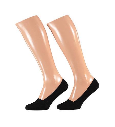 Sarlini Invisible Socks 2-Pack Jersey Black