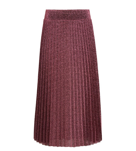 King Louie Border Plisse Skirt Glitter Plisoley Lilac Red