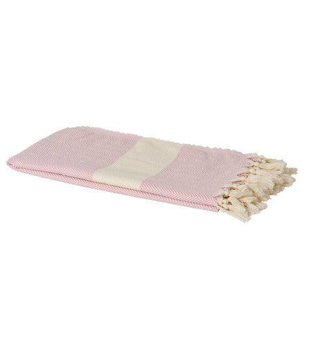 RICE Geweven Hamam Handdoek Licht Roze