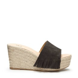 Fabienne Chapot Wedge Slipper Suede Grey