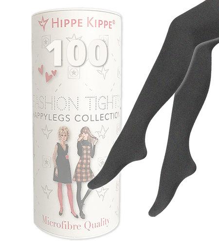 Hippe Kippe Fashion Tights 100 Denier Antracites Melange