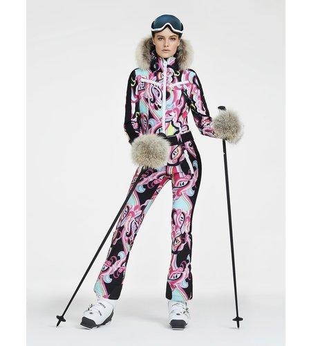 Goldbergh Glam Jumpsuit Real Raccoon Fur Fuchsia
